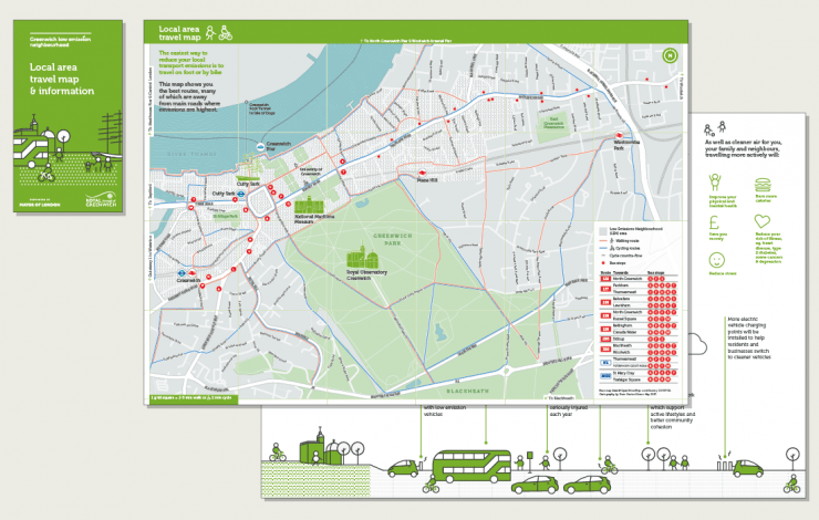 Travel Map London.Designing A Cycle Ride Guide And Travel Map For Greenwich In London